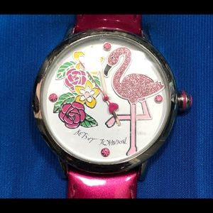 Betsey Johnson flamingo watch